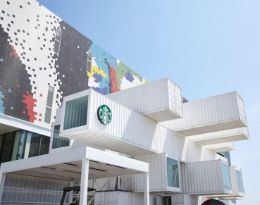 Container riciclati per il nuovo Starbucks a Taiwan