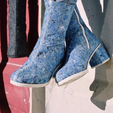 Stivali in feltro riciclato