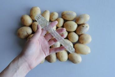 Posate in plastica di patate