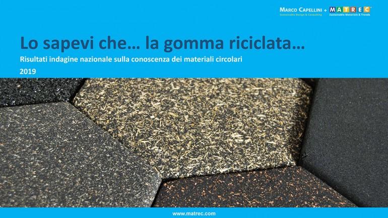 (Italiano) Indagine nazionale sulla conoscenza della gomma riciclata