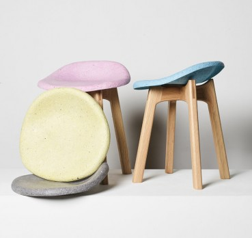 Recycled paper stools