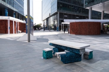 Urban furniture made of recycled aluminum