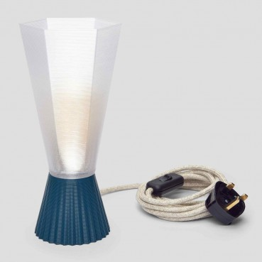 Lamp made of PLA and recycled plastic