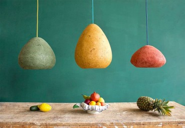 Lamps made of recycled paper