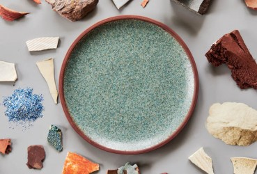 Dinnerware 100% recycled materials