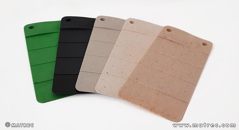 Material made of PLA and hemp fibres