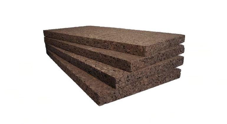 Black agglomerated cork material