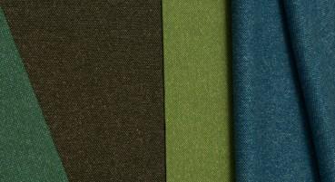 Tessuto in lana, lino e seta riciclata