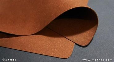 Materiale in lattice naturale e cuoio riciclato
