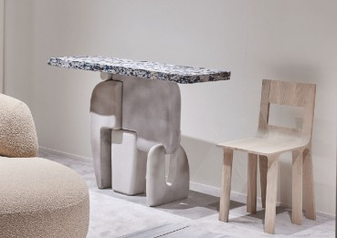 Capsule collection of furniture made of recycled materials