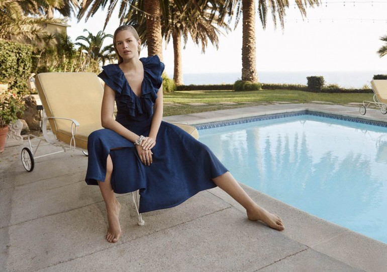 H&M: sustainable fabric dress in the Conscious Exclusive collection