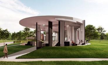Architettura sostenibile utilizzando sughero e mattoni riciclati