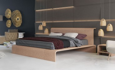 Un letto in sughero naturale
