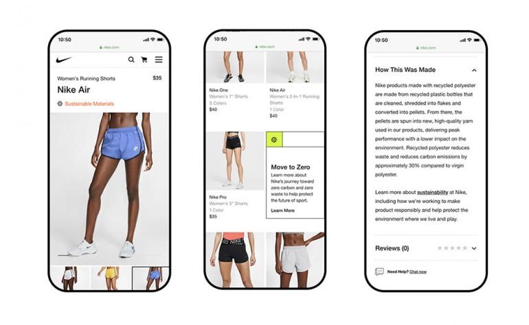 Nike racconta ai consumatori i suoi prodotti sostenibili