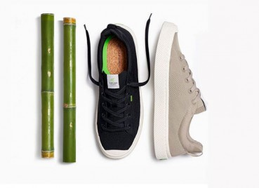Sustainable footwear with bamboo knit and recycled PET uppers