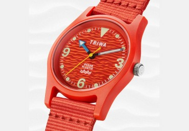Collection of watches made of recycled plastic