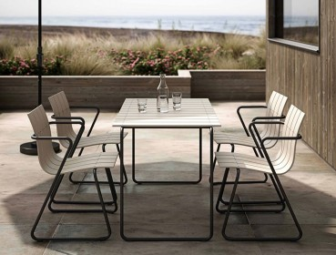 Designer outdoor furniture made of recycled plastic
