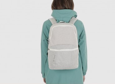 Backpack made of recycled hemp fibres and organic cotton