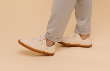Footwear made with multiple materials from renewable sources