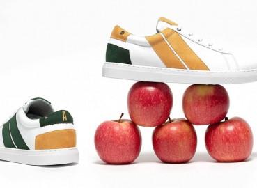 Calzature sostenibili in pelle-mela
