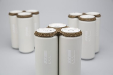 Biodegradable packaging obtained from beer production wastes