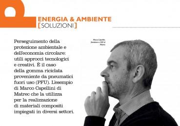 Intervista a Marco Capellini CEO di Matrec sull'impiego della gomma da PFU