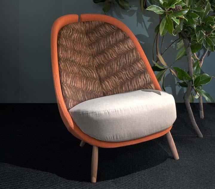 Pianca: green edition of the armchair Calatea