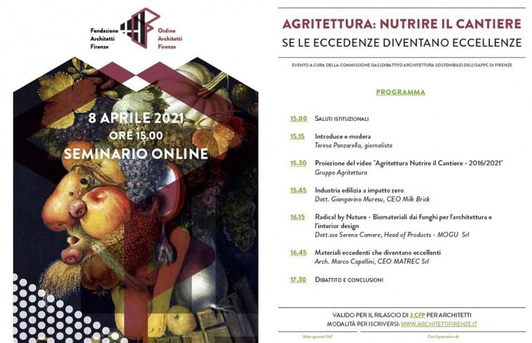 SEMINARIO AGRITETTURA: NUTRIRE IL CANTIERE