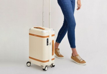 Suitcases made from recycled materials