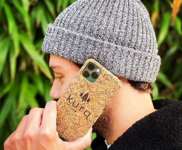 Recycled plastic and cork smartphone case