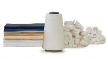 Filato in cotone organico e riciclato