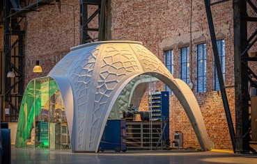 3D Printed modular workspace with recycled PET