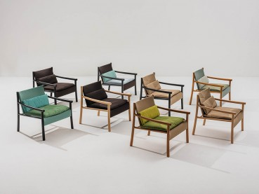 Design seating with certified and recycled materials