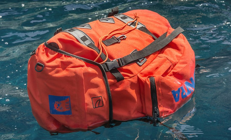 Tucano: floating backpack in recycled PET