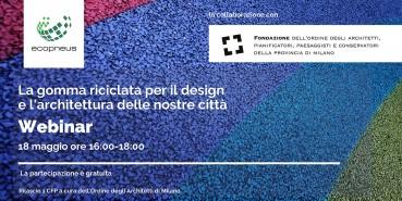 Un seminario dedicato alla gomma riciclata per il design e l'architettura delle nostre città