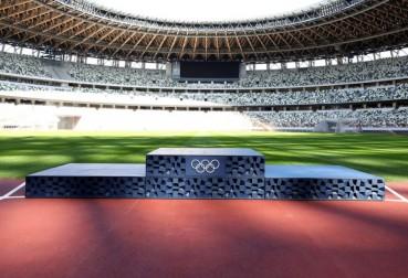 Olimpiadi Tokyo 2020: Podio in plastica riciclata