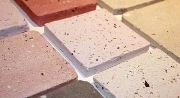 Recycled seashells tiles